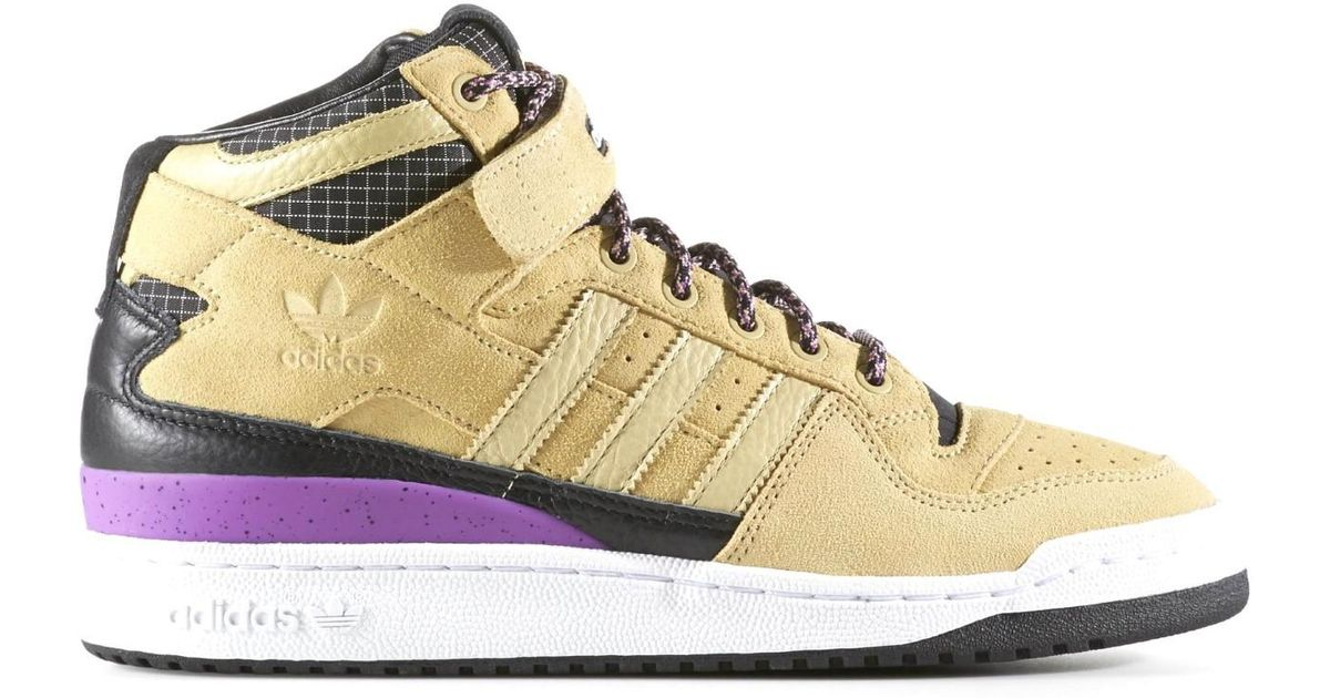 790b363a593 Lyst - adidas Originals Forum Mid Refined Sand black white F37834 (size 10)  in Natural for Men