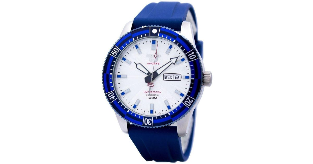 Lyst - Seiko 5 Sports Automatic Limited Edition Srp781 Srp781k1 Srp781k  Mens Watch in Blue for Men 50c3ef9c57