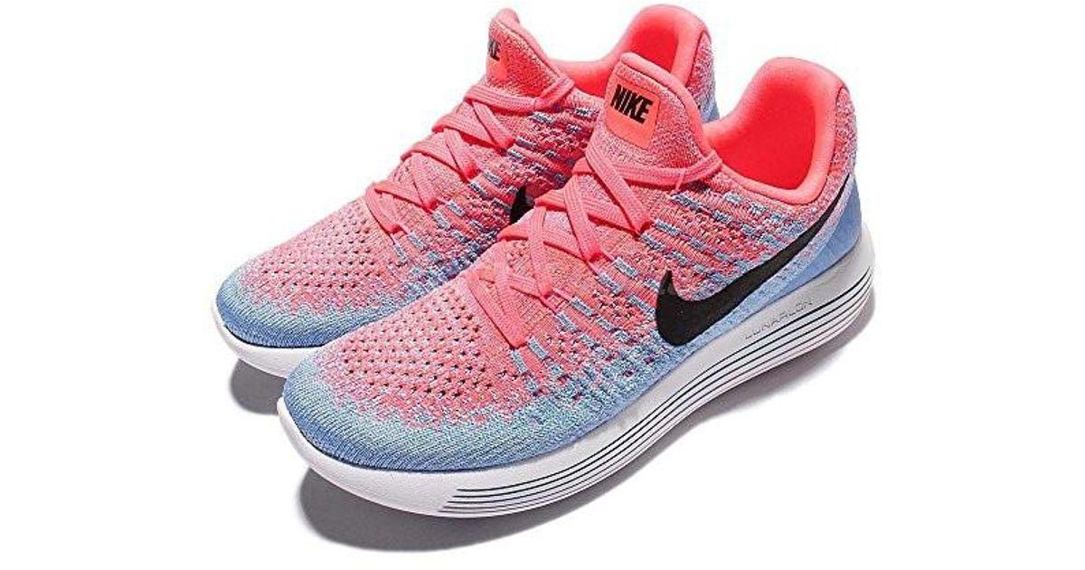 cd773f8f57b49 Lyst - Nike Women Lunarepic Low Flyknit 2 Running Hot Punch Black-aluminum-university  Blue Size 6.0 Us