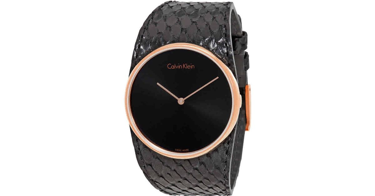 Lyst - Calvin Klein Spellbound Black Dial Ladies Watch K5v236c1 in Black bf9e4586e96
