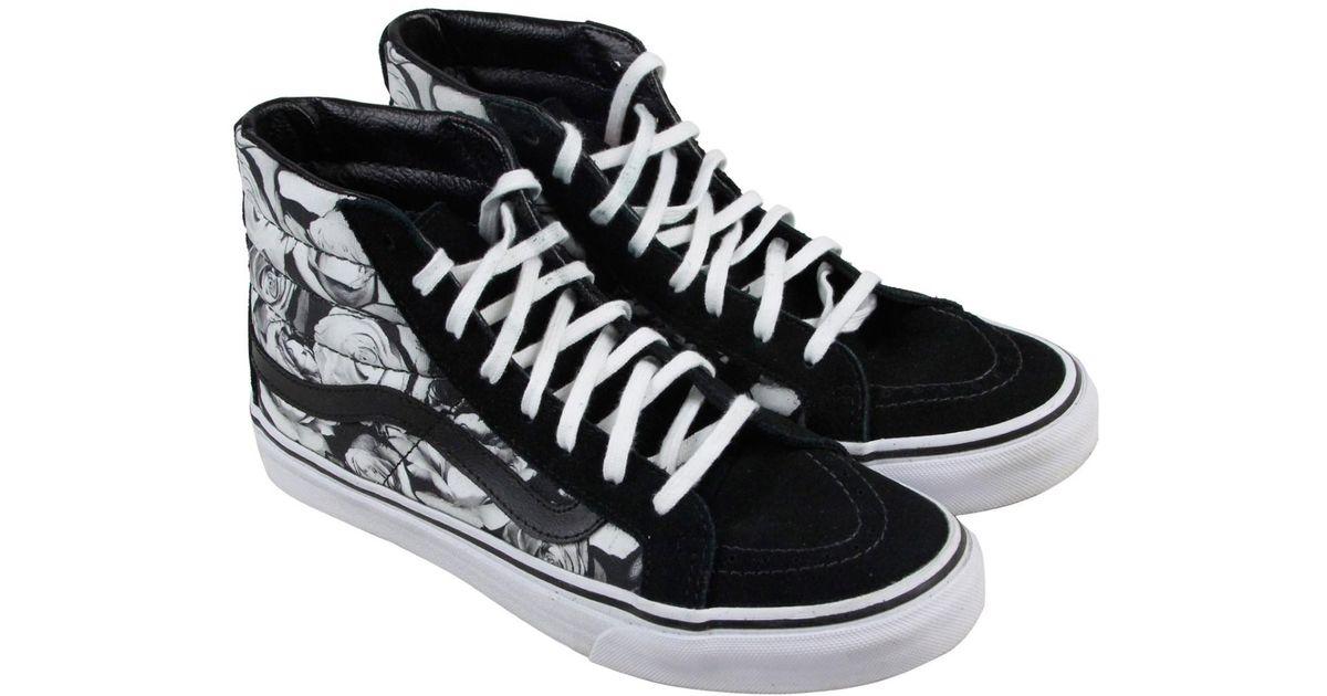 e82029e4b1 Lyst - Vans Sk8 Hi Slim Black True White Mens High Top Sneakers in Black  for Men