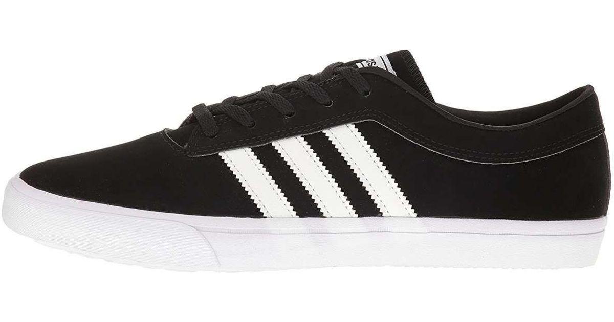 new product 89ef8 67244 Lyst - Adidas Originals Men Sellwood Skateboarding Sneakers in Black for Men