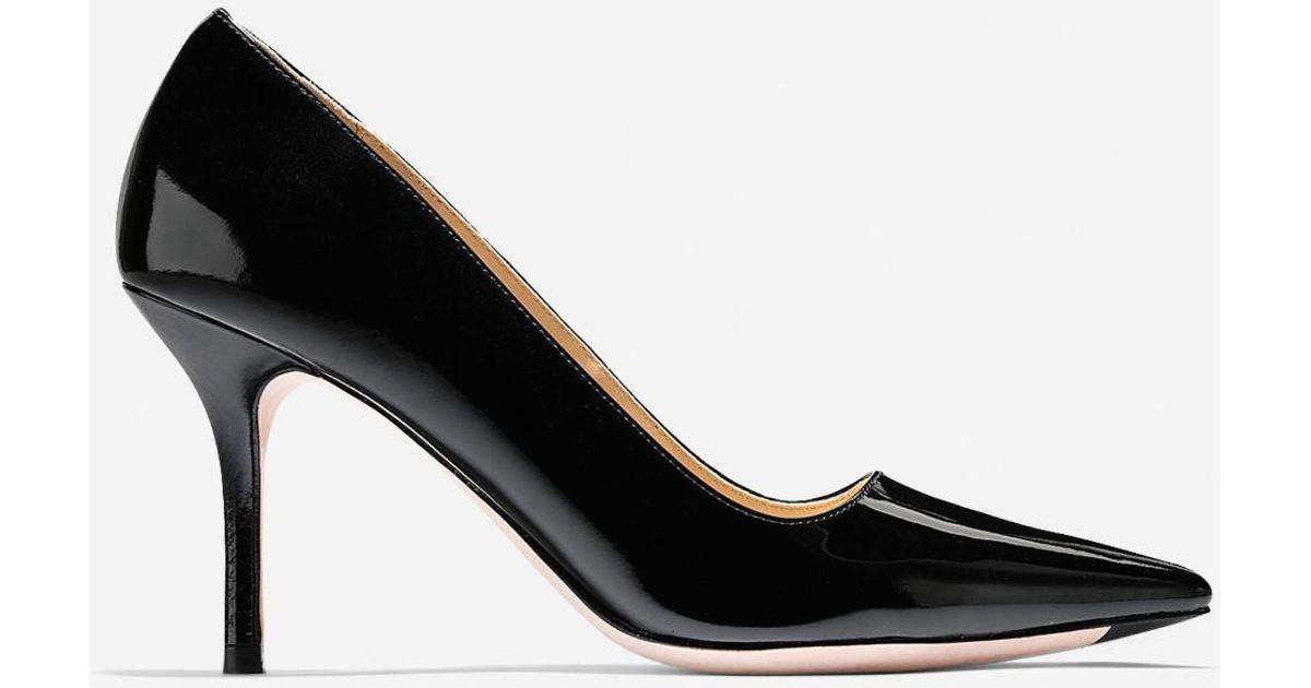 Womens Shoes Cole Haan Bradshaw Pump 85 Black Patent