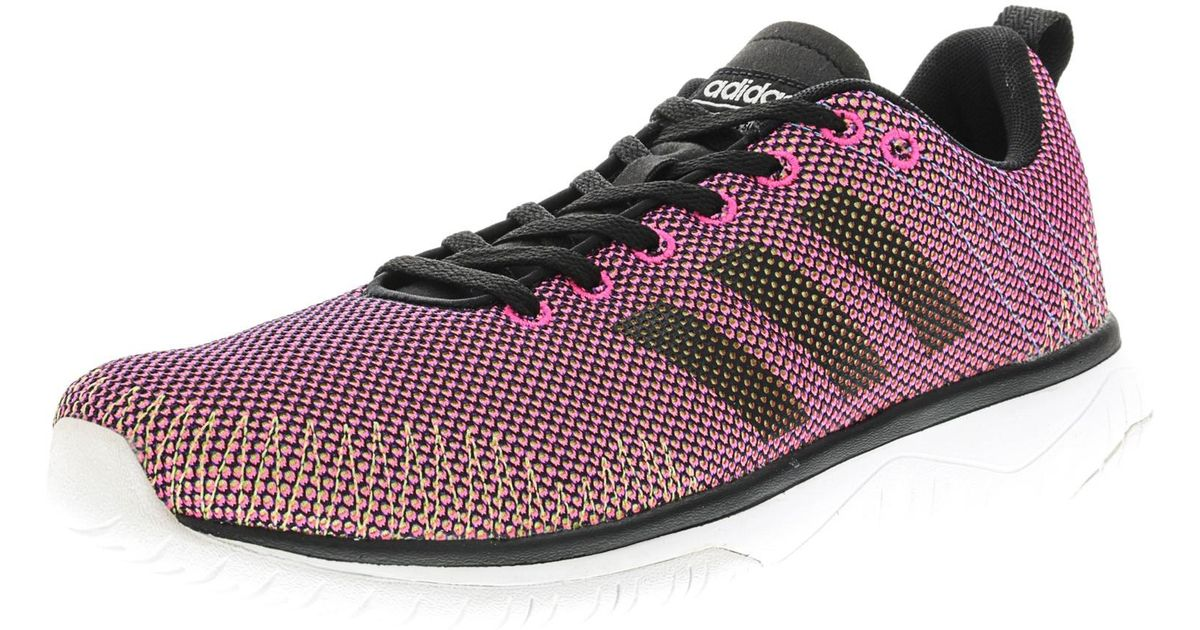 lyst adidas cloudfoam super flex shock rosa / nucleo ftw bianco nero