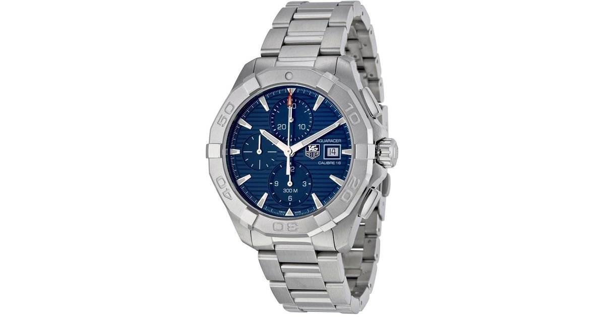 online store 08791 78d4b Tag Heuer - Aquaracer Blue Dial Watch Cay2112.ba0925 for Men - Lyst