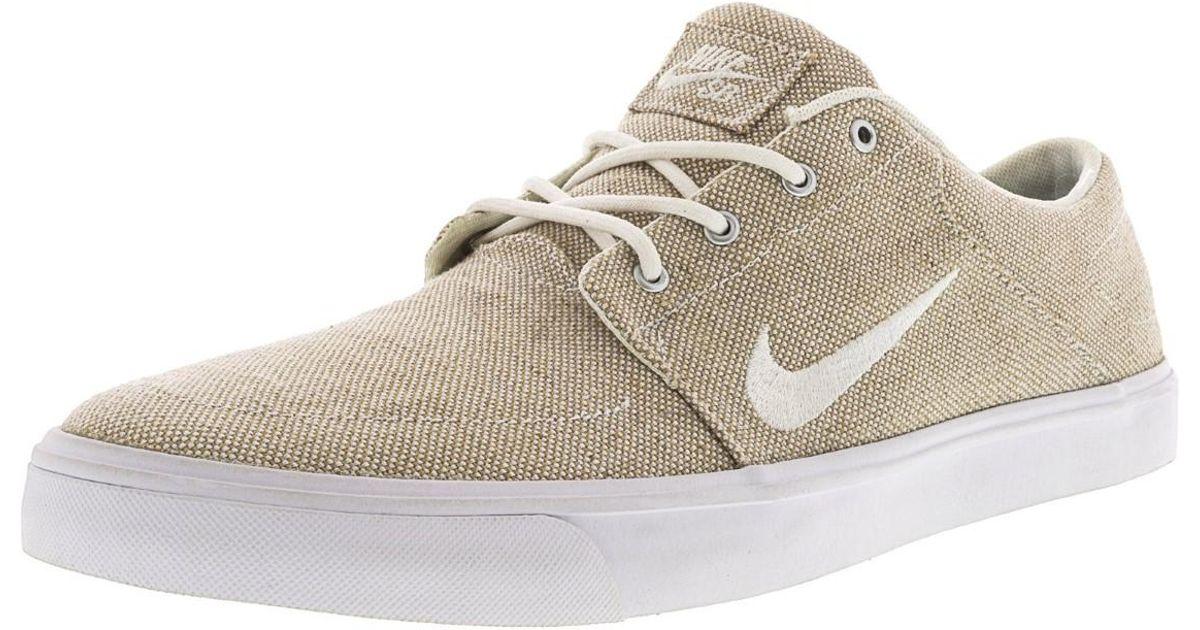7931e3139aa4 Lyst - Nike Sb Portmore Canvas Premium White   Black Ankle-high  Skateboarding Shoe - 8m in White for Men