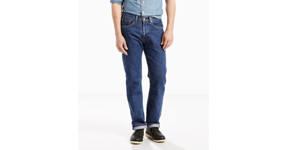 f62d50af Lyst - Levi'S 505 Regular Fit Jeans - Dark Stonewash - Big & Tall in Blue  for Men