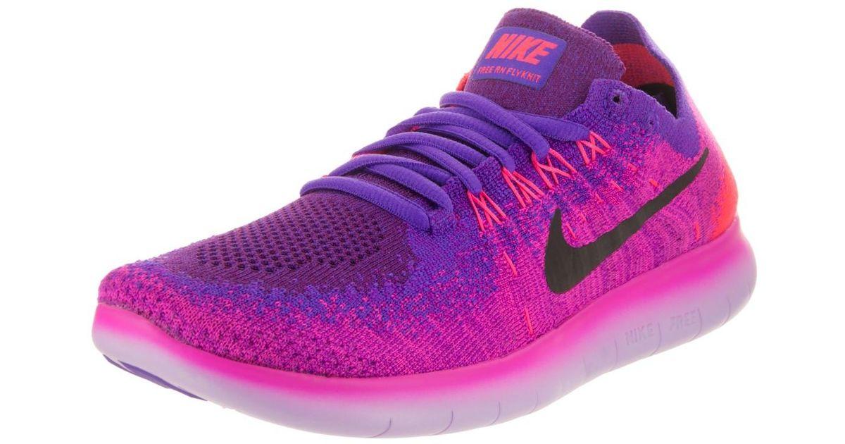 Lyst - Nike Free Rn Flyknit 2017 Fire Pink black Hyper Grape Running Shoe  6.5 Women Us in Pink dc2a0ff56932