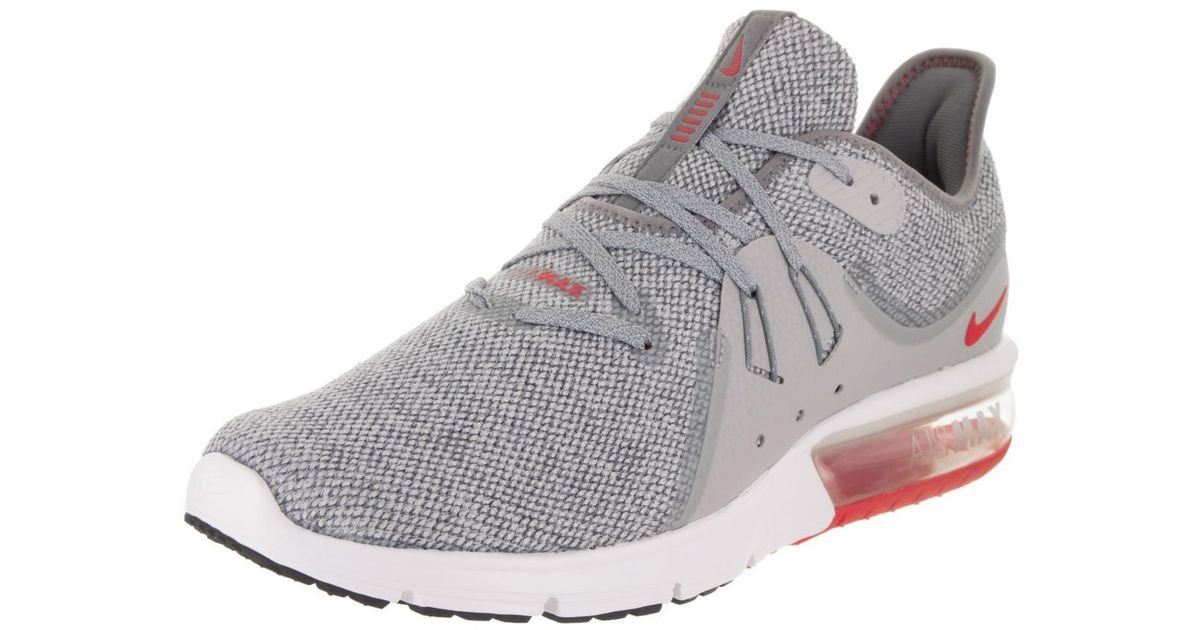 d8bca00788e Lyst - Nike Air Max Sequent 3 Cool Grey university Red Running Shoe 8.5 Us  in Gray for Men