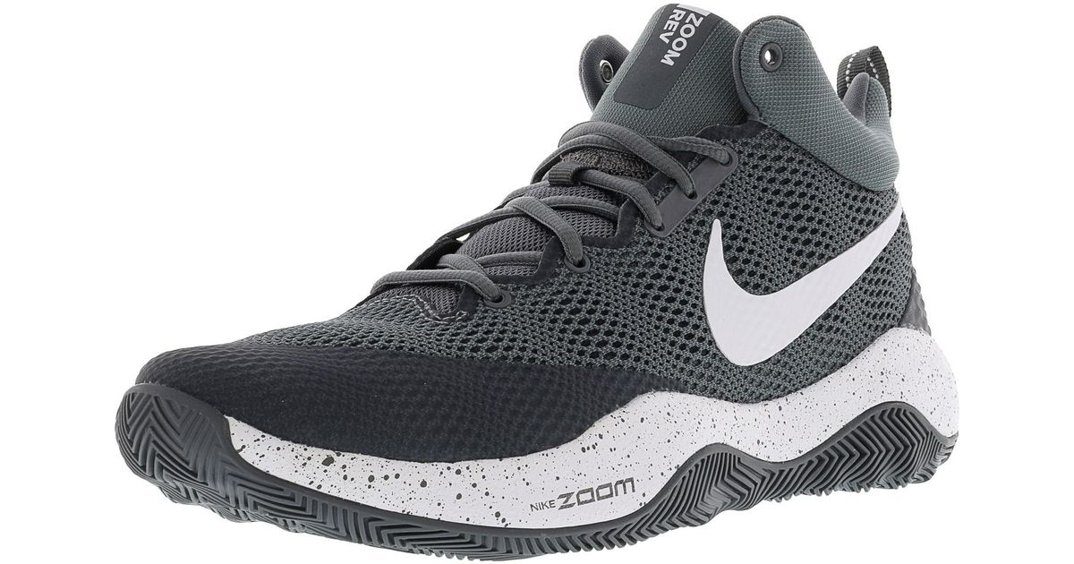a3a2977fda3 Lyst - Nike Zoom Rev Cool Grey   Dark White Ankle-high Basketball Shoe -  8.5m in Gray for Men