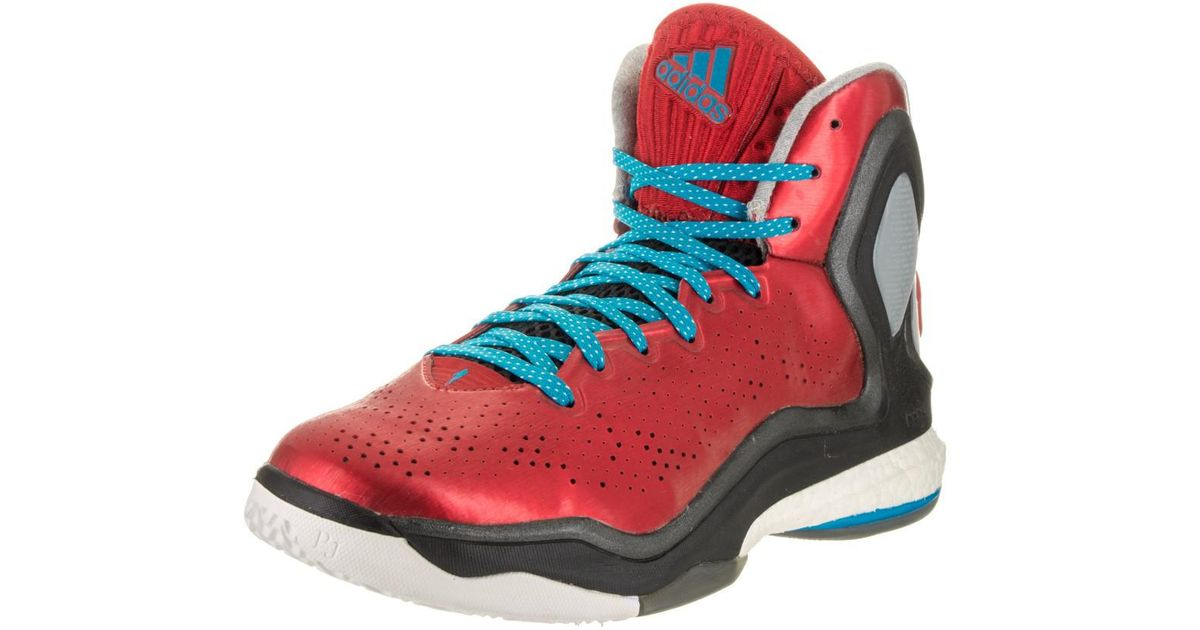02bf0667cf2c Lyst - adidas D Rose 5 Boost Scarlet solblue black Basketball Shoe 11.5 Men  Us in Black for Men