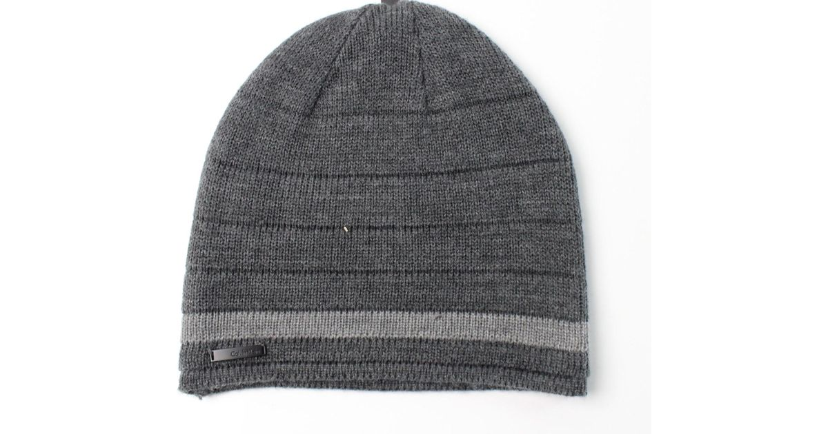 Lyst - Calvin Klein Heather Gray One-size Ribbed Acrylic Beanie Hat in Gray  for Men 06df073d3c3