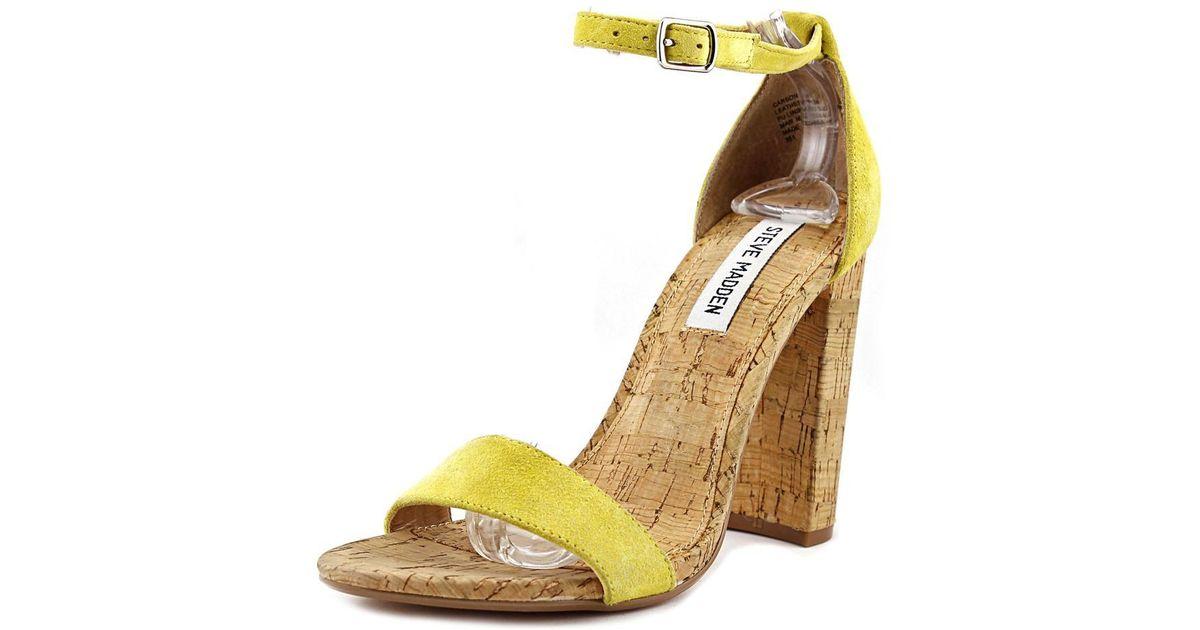 d6625255894 Lyst - Steve Madden Carson-c Women Us 8 Yellow Sandals in Yellow