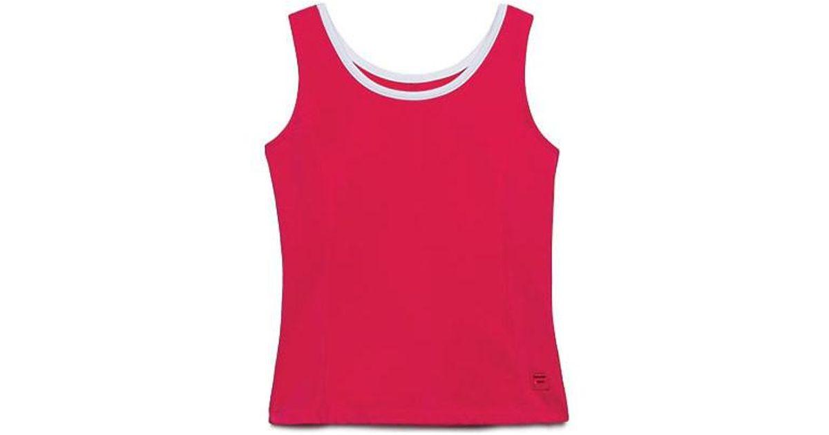 76394fe818373 Lyst - Fila Girls  Heritage Full Back Tank in Red
