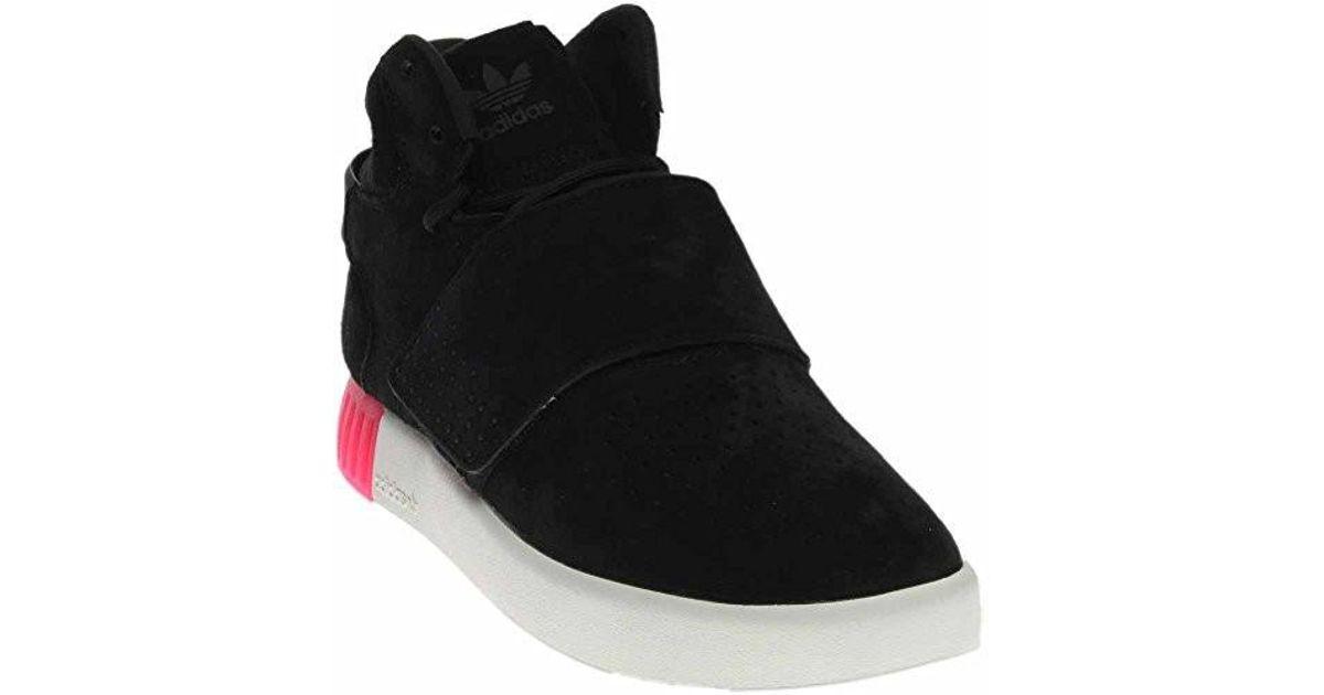pretty nice 1421a 11574 Adidas Originals - Tubular Invader Strap Shoes Core Black/black/shock Pink  B39365 (8.5 B(m) Us) - Lyst