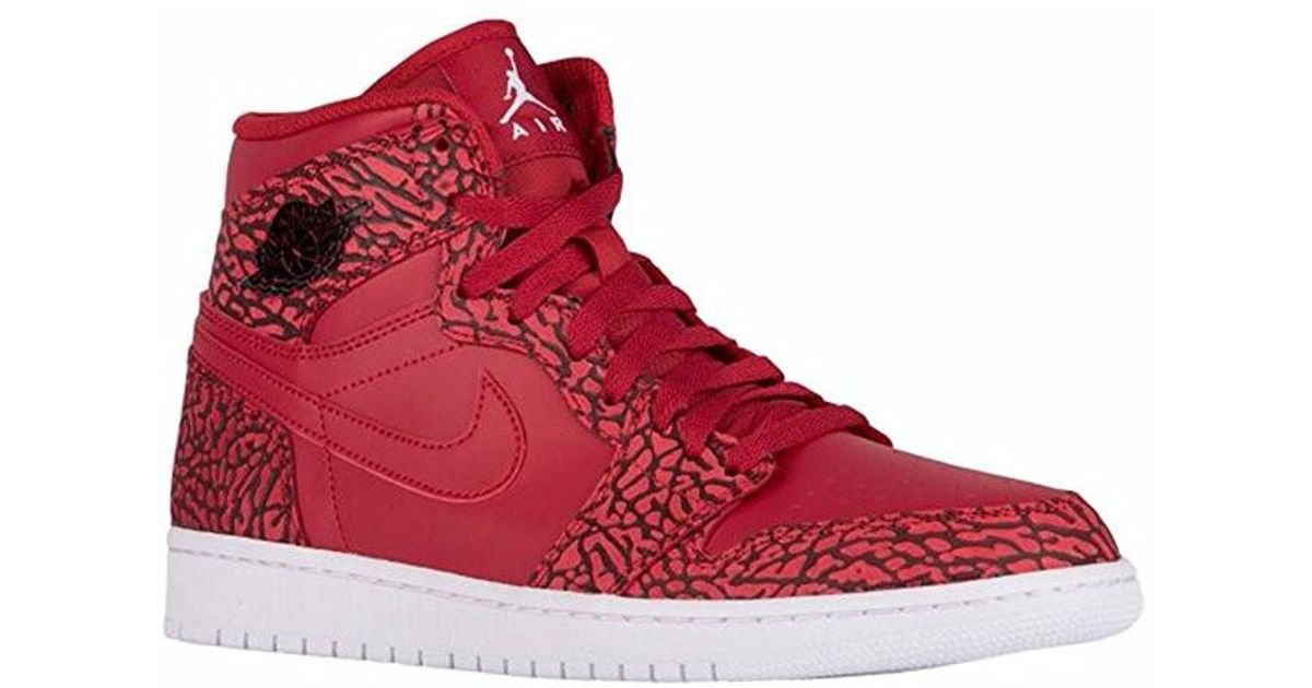 b41ed8d05b1 Lyst - Nike Air Jordan 1 Retro High Basketball Shoes in Red