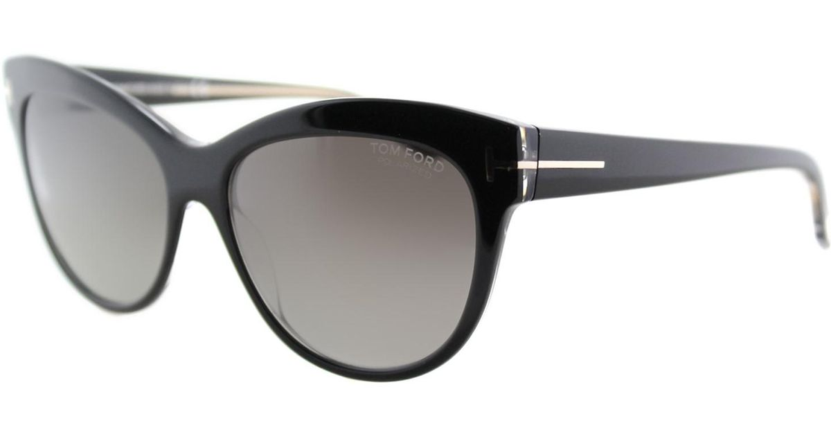 db6ad426f8 Lyst - Tom Ford Sunglasses Lily Tf 430 Ft 05d Black other   Smoke Polarized  in Black