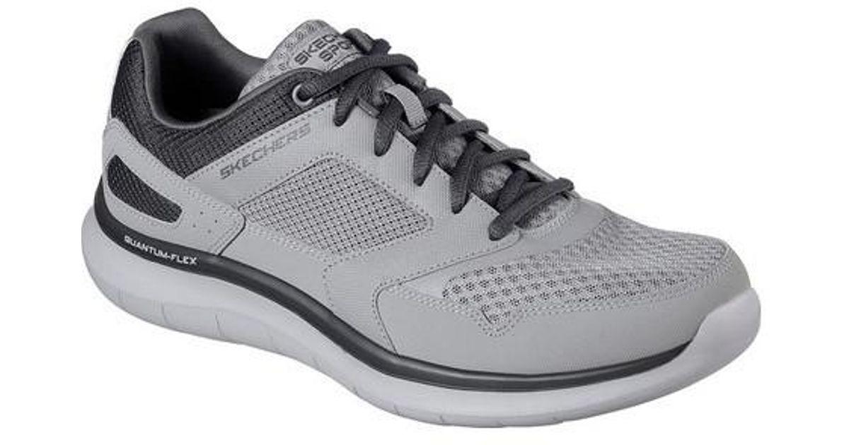 5863de1ae927 Lyst - Skechers Relaxed Fit Quantum Flex Hudzick Sneaker in Gray for Men