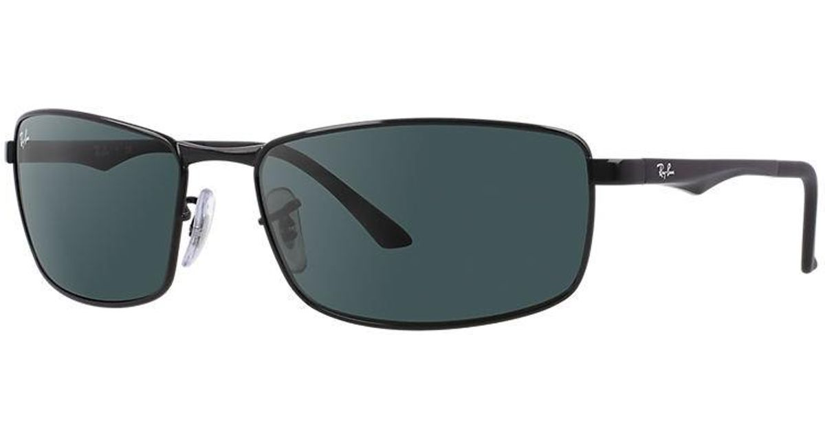 72a1fbb7e4 Lyst - Ray-Ban Rb3498 Rb3498-002 71-61 Black Rectangle Sunglasses in Black  for Men