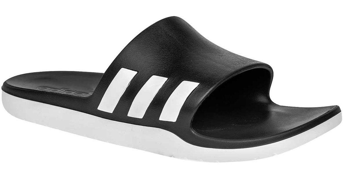 8ee0471cb599 Lyst - adidas Aqualette Cloudfoam Slides in Black for Men