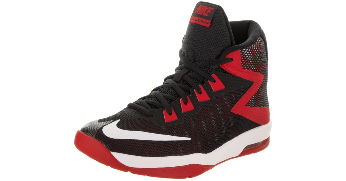 ee2d783d354a Lyst - Nike Kids Air Devosion (gs) Black white University Red Basketball  Shoe 6.5 Kids Us in Red for Men