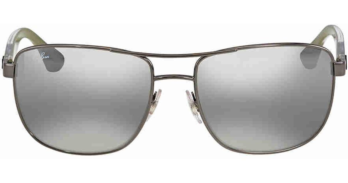 0e7a006129 Lyst - Ray-Ban Ray Ban Grey Gradient Mirror Square Sunglasses in Gray for  Men