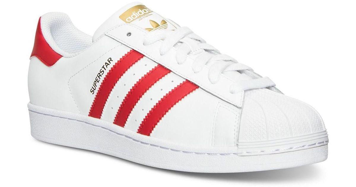 5fb23ac2f4dc Lyst - Adidas Originals B27139  Originals Superstar Foundation Sneakers  White scarlet (11 D(m) Us Mens in White