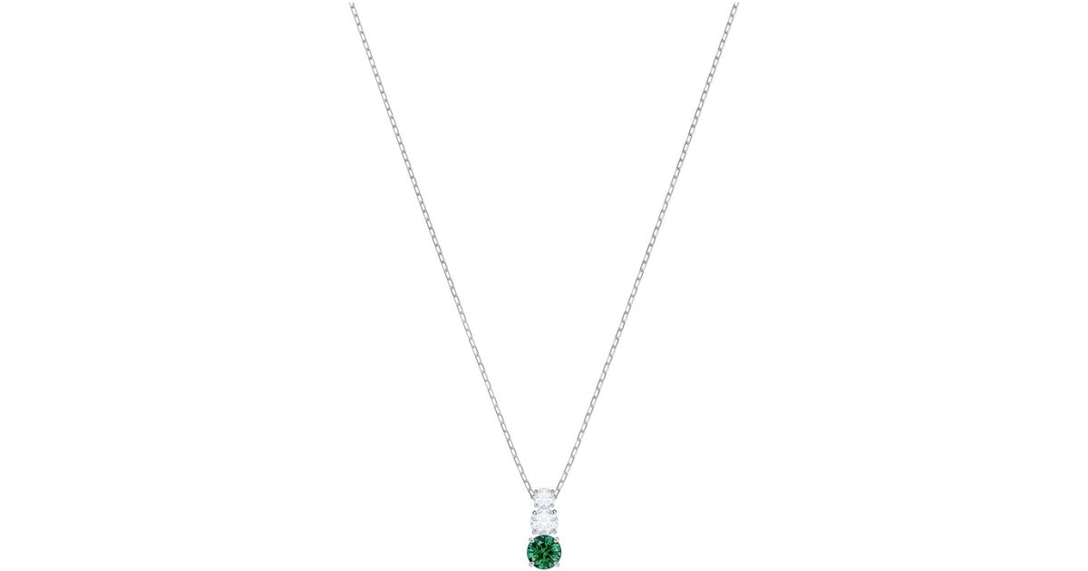 15554f5f44 Swarovski Attract Trilogy Rhodium Plated And Crystal Round Pendant in  Metallic - Save 12% - Lyst
