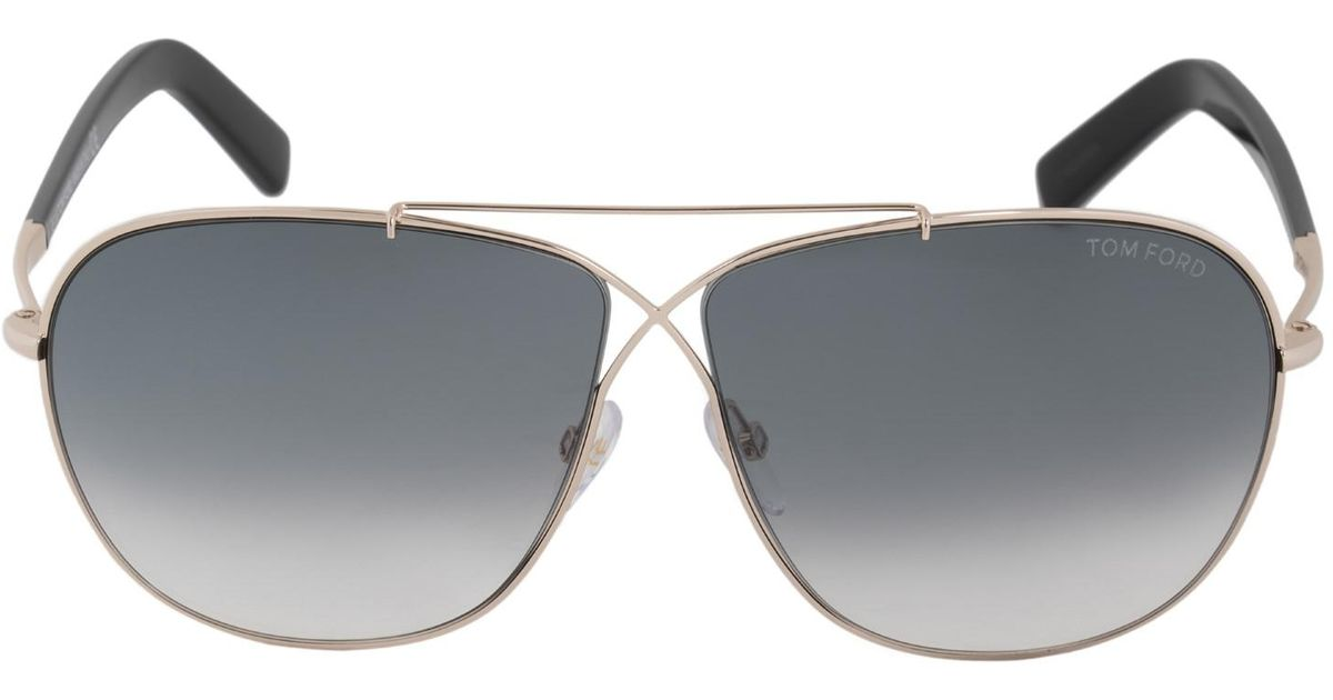 31c48d564c73 Lyst - Tom Ford April Tf393 28p Gold Grey Gradient Unisex Aviator Sunglasses