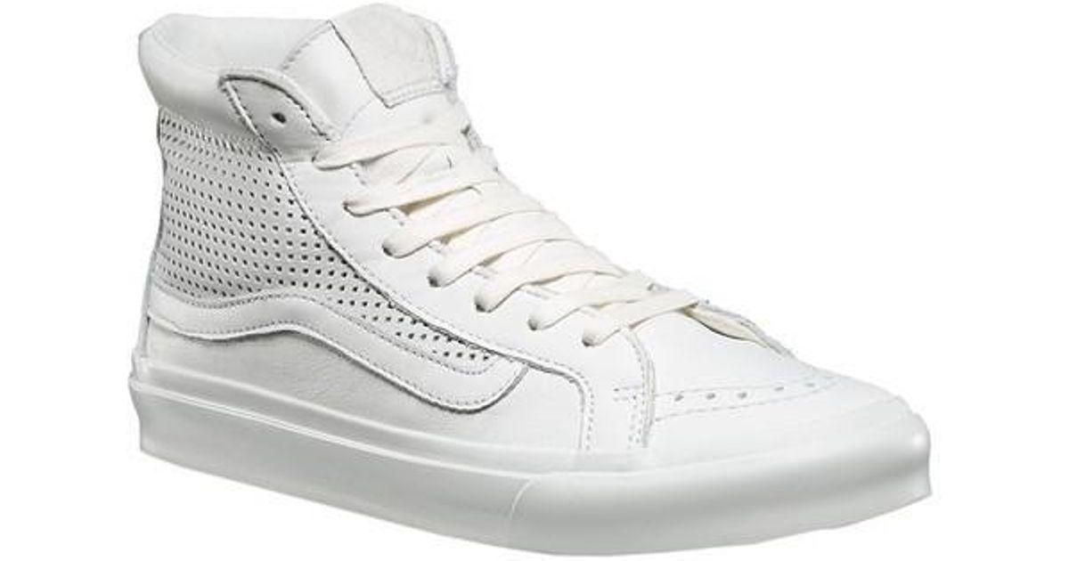 348c9303ae Lyst - Vans Unisex Sk8-hi Slim Cutout Dx Sneaker in White for Men