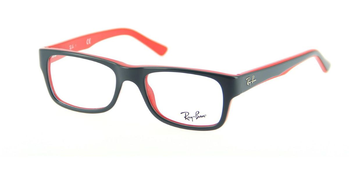 2c074d32fad65 ... free shipping lyst ray ban optical 0rx5268 5180 50 top grey on red  youngster eyeglasses in