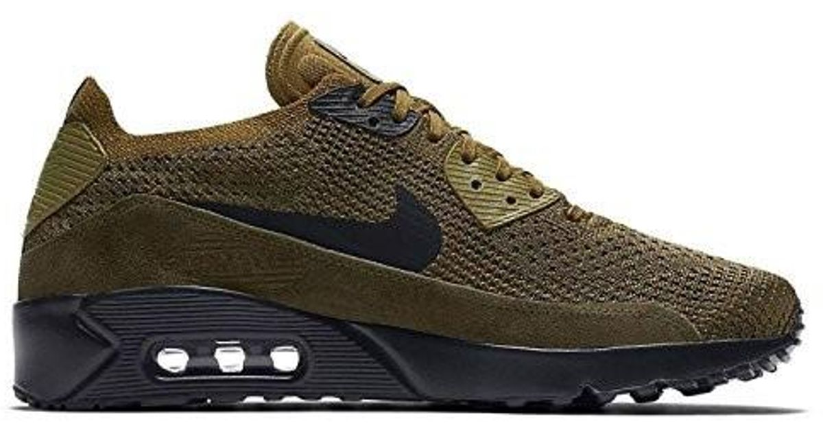 56876d6393ce Lyst - Nike Air Max 90 Ultra 2.0 Flyknit Olive 875943-302 in Green for Men