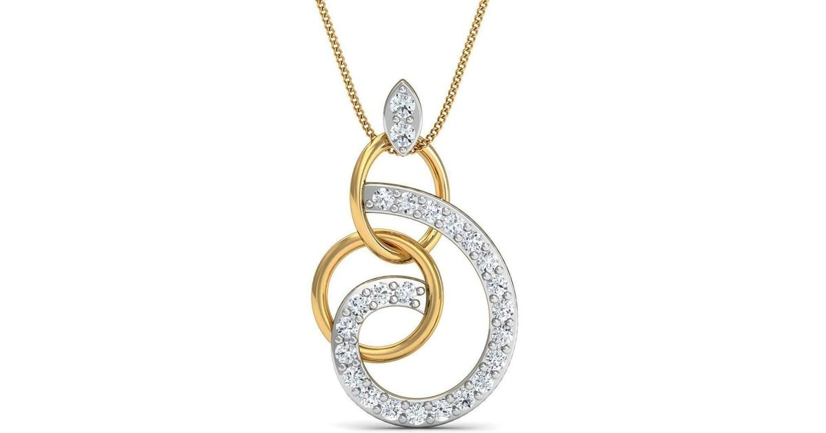 Diamoire Jewels Nature Inspired Sapphire and Diamond Pendant in 18kt Yellow Gold h18evXtp83