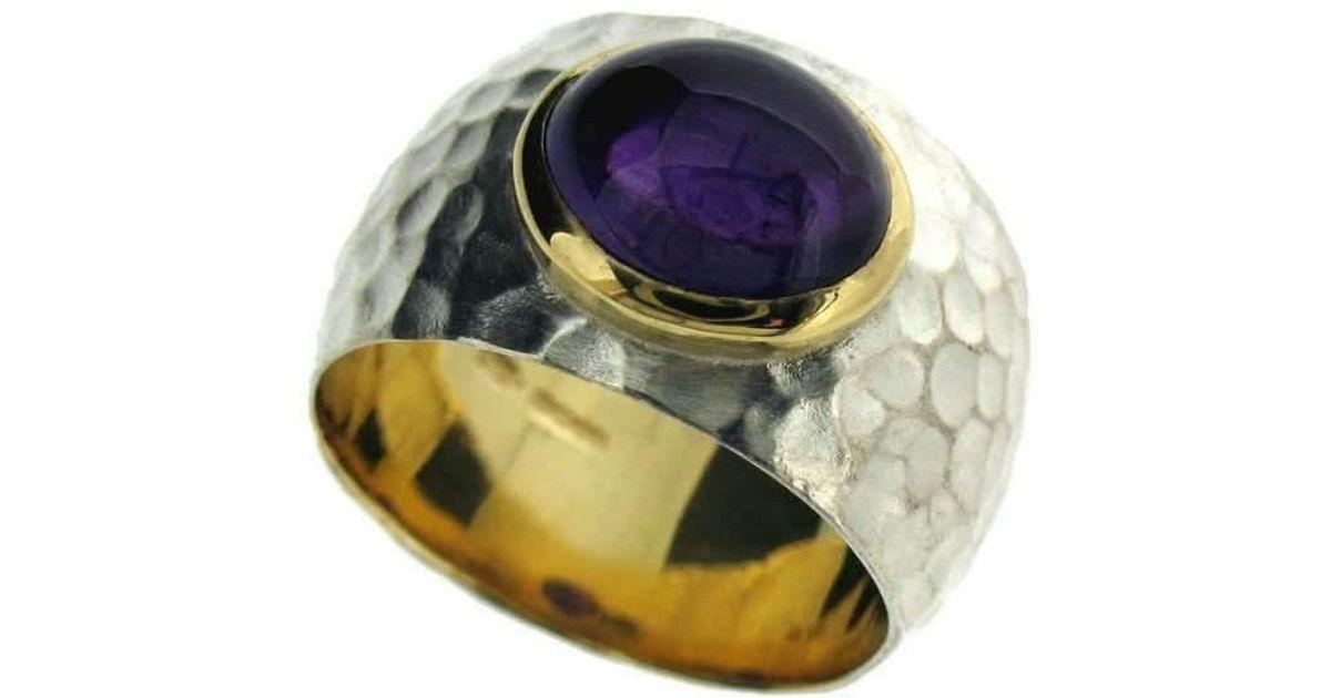 Will Bishop Molten Silver & Citrine Ring - UK G - US 3 3/8 - EU 45 1/4 rr5W7s