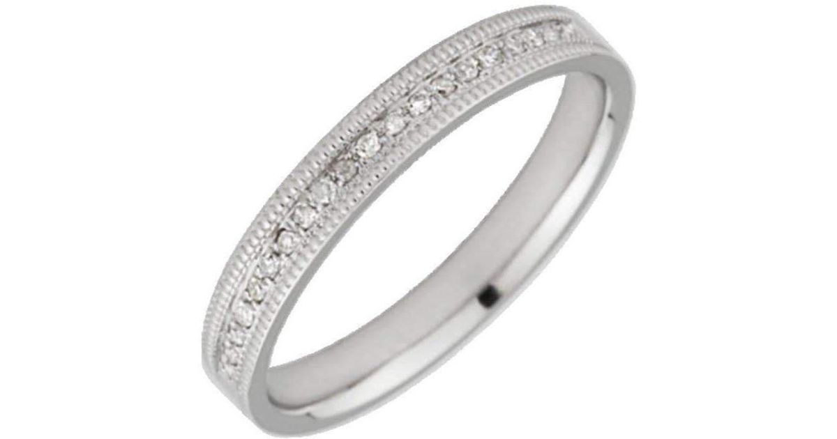 Lyst Star Wedding Rings White Gold Diamond 3mm Eternity Ring in Black