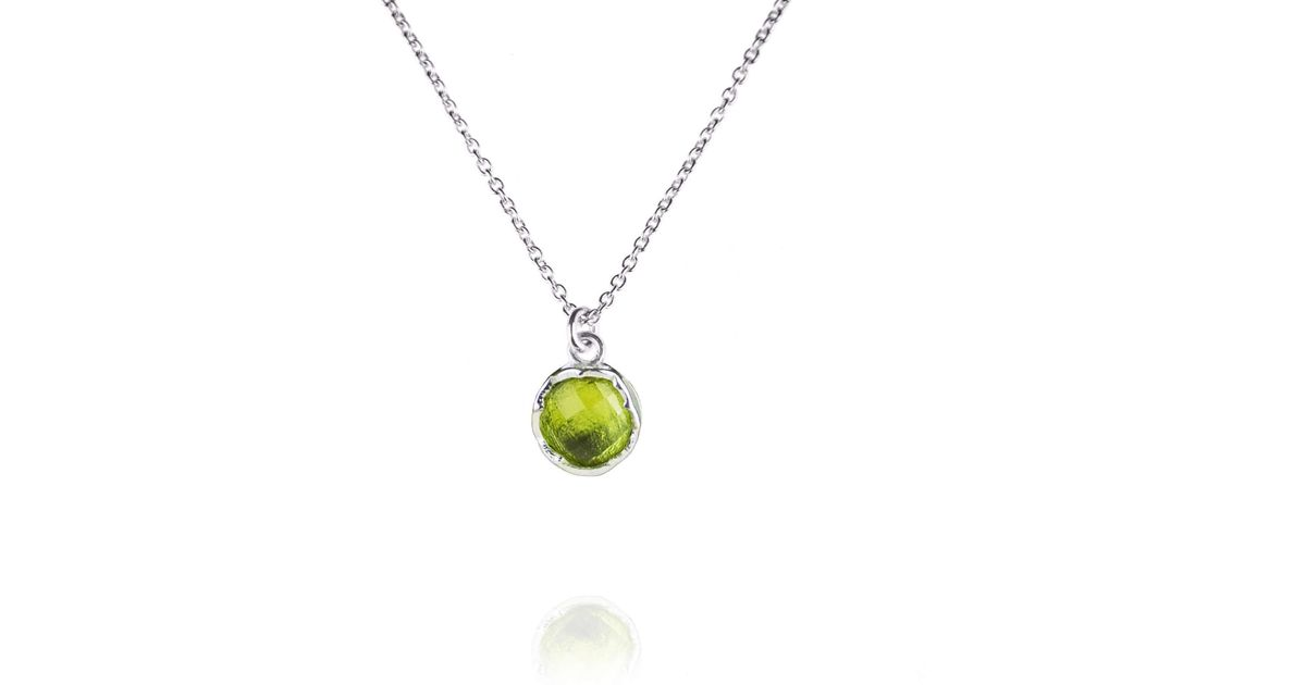 Zefyr Dosha Necklace Sterling Silver With Peridot YLi0yx