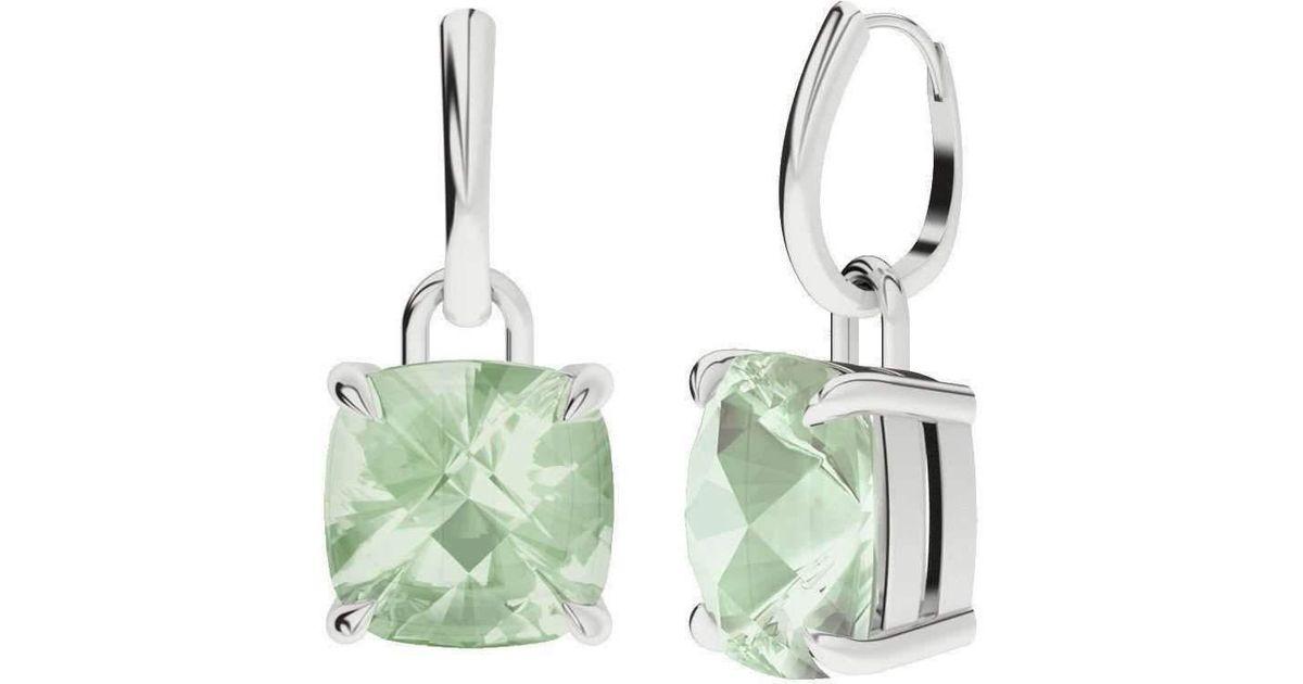 StyleRocks Rose Quartz 9kt White Gold And Diamond Drop Earrings i1wN9RfA2