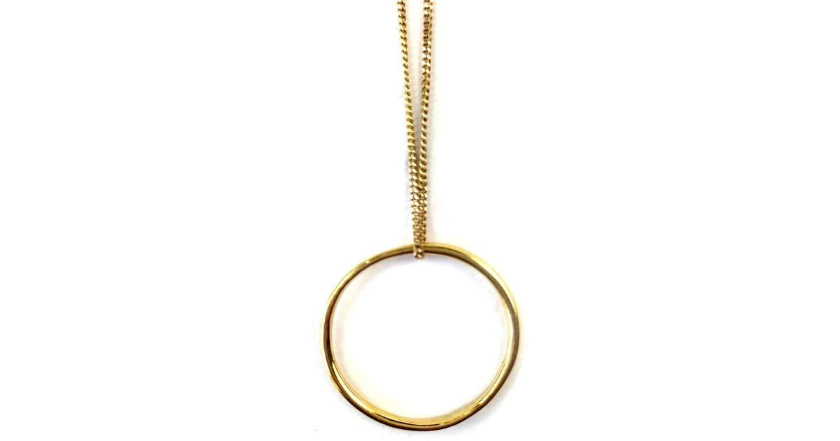 Fran Regan Jewellery Pendant Vermeil Single Loop On Gold Chain 25dzp