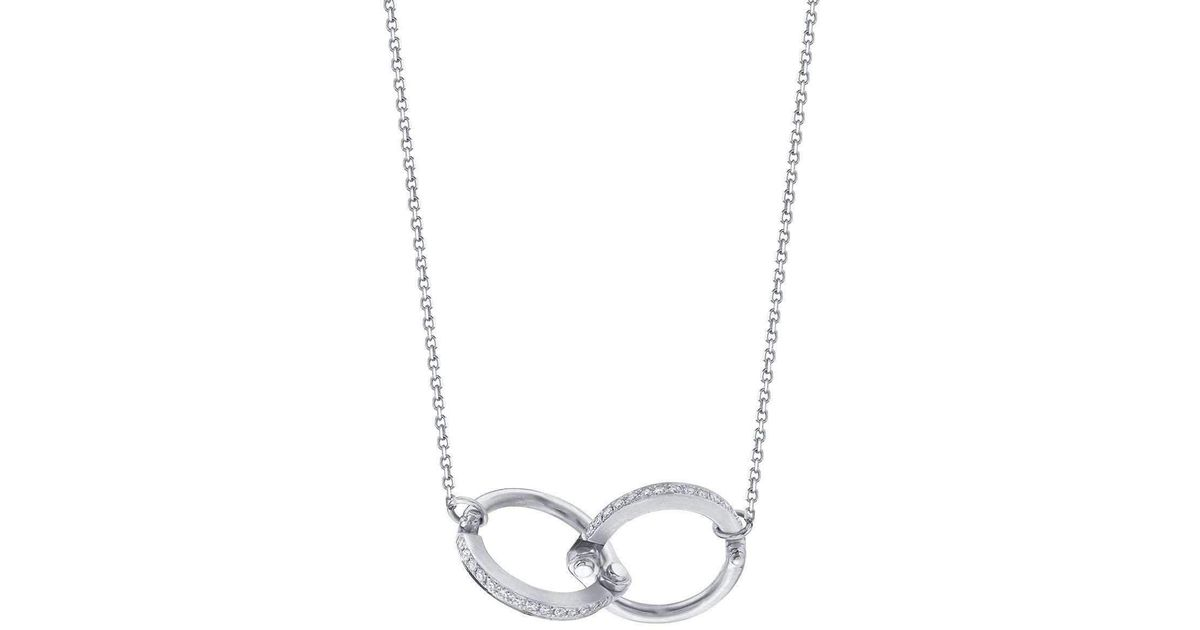 Borgioni Handcuff Chain Necklace in Rose Gold nyTeKY