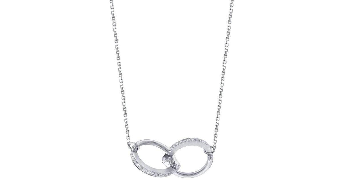 Borgioni Handcuff Chain Necklace in Rose Gold 92yrjt
