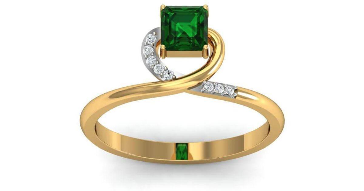 Diamoire Jewels 18kt Yellow Gold Pave 0.14ct Diamond Infinity Ring I - UK G 1/4 - US 3 1/2 - EU 45 3/4 Ph7suN