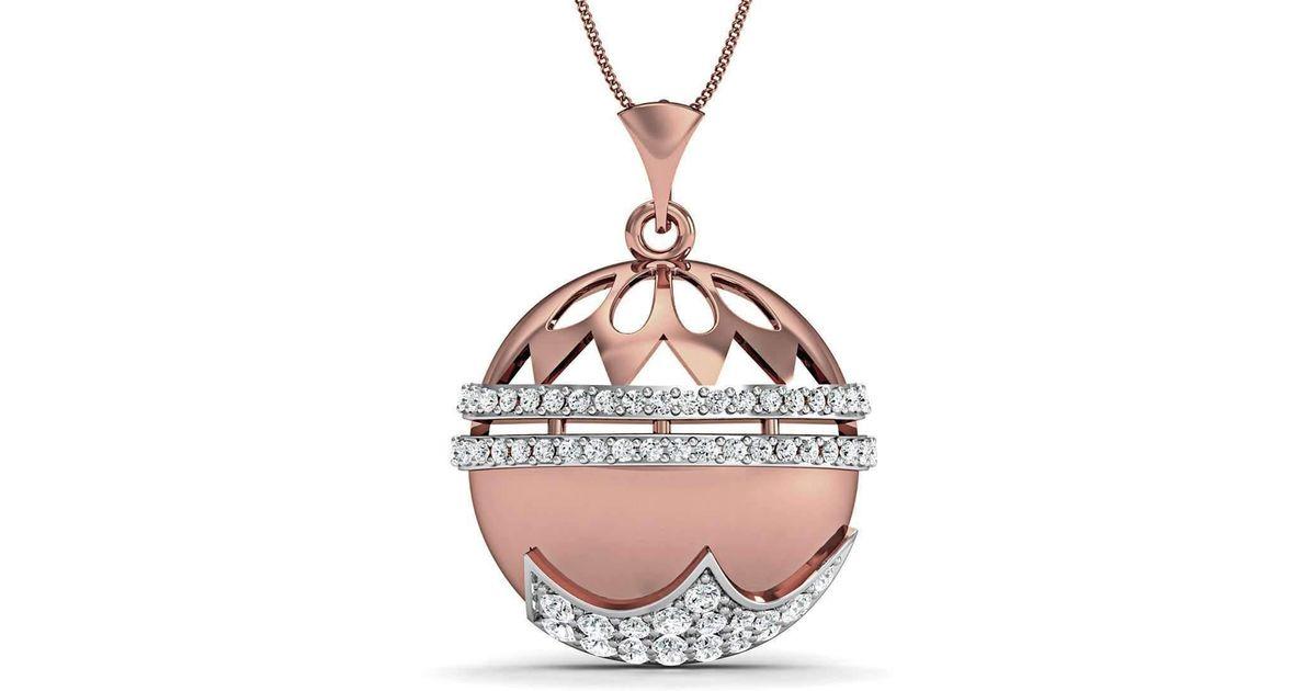 Diamoire Jewels 18kt Rose Gold Diamond Pave Pendant eFv5FbZ5