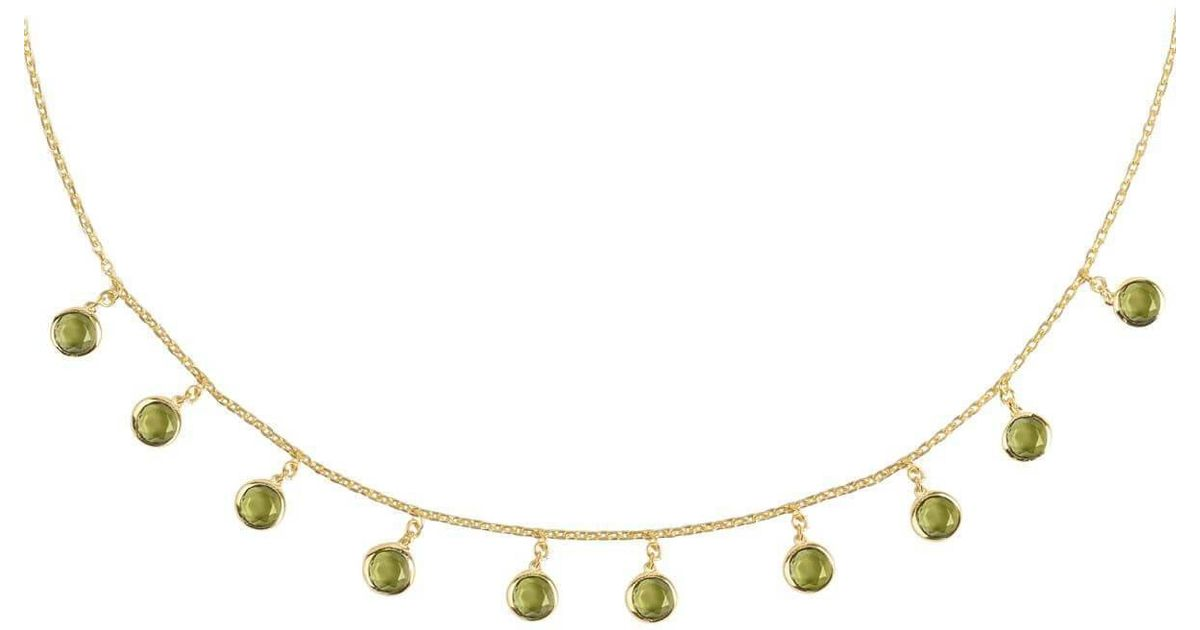 Latelita London Venice Long Chain Necklace Rose Gold Amethyst 1CU1lDXna