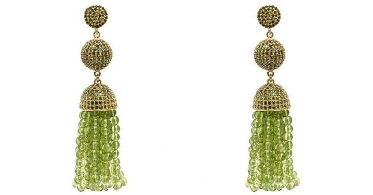 Latelita London Tassel Ball Necklace Peridot Gold LZ7vUL