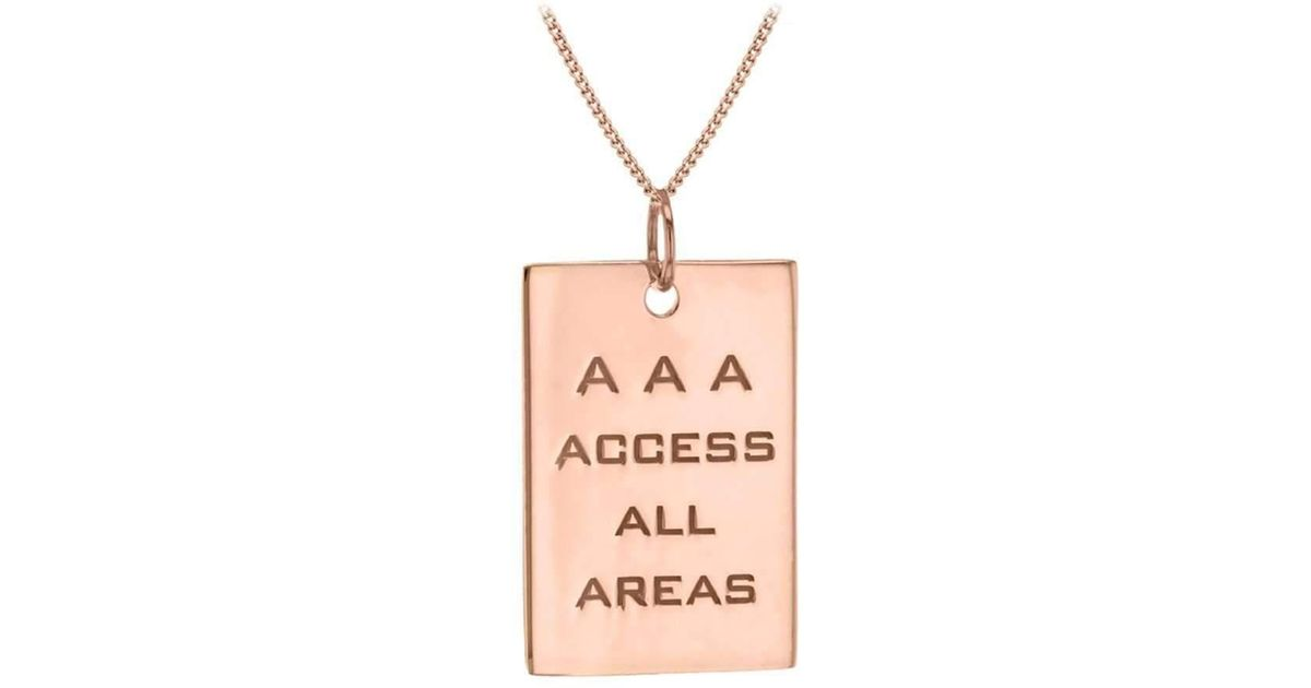 True Rocks Rose Gold Plated Silver AAA Pass Pendant