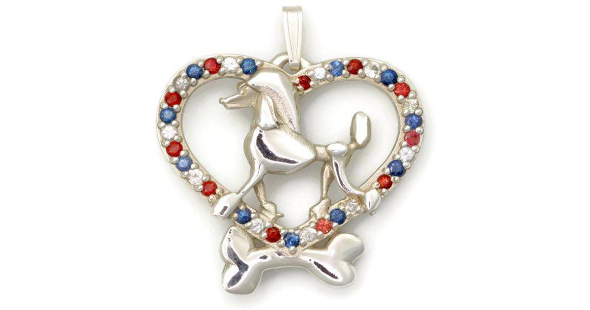 Donna Pizarro Designs Sterling Silver And Sapphire Poodle Necklace With 33 Sapphires 1RMsSP