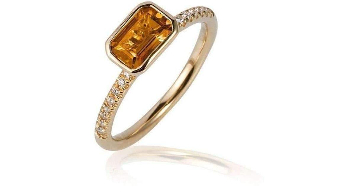 Goshwara Gossip Rubelite Oval Stackable Rings with Diamonds - 6.5 (M) 3sU6FCu