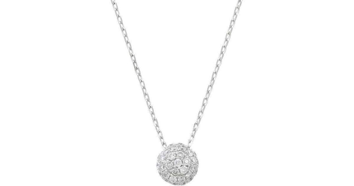 London Road Jewellery Bloomsbury White Gold Diamond Ball Pendant YDpPvo