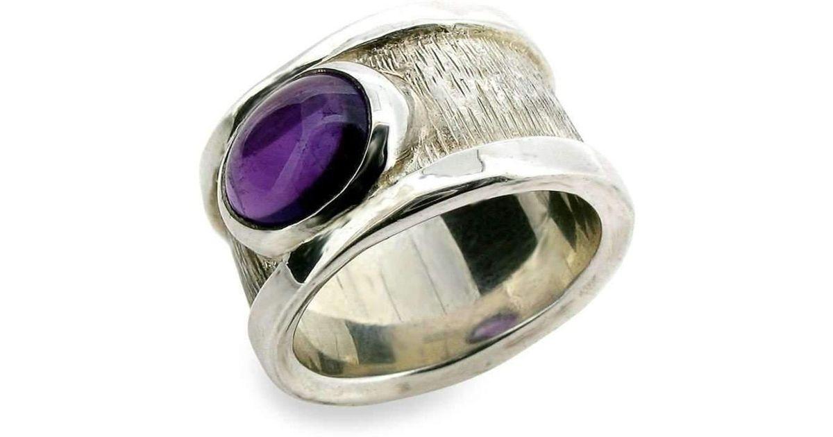 Will Bishop Sterling Silver & Gemstone Bangle Rings pVEaRWHH