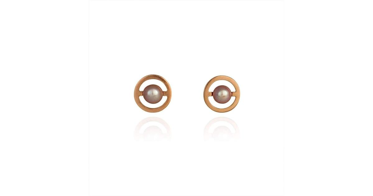 Cara Tonkin Gold Orbit Saturn Stud Earrings szD4ZRXXF